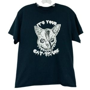 3/20 Misfits Cat-titude Graphic Tee Crop Danzig
